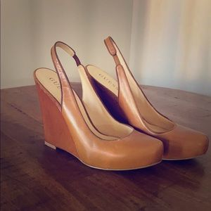 Guess sling back wedges